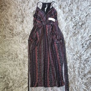 NWT BCBGENERATION Drape Pocket Faux Wrap Dress